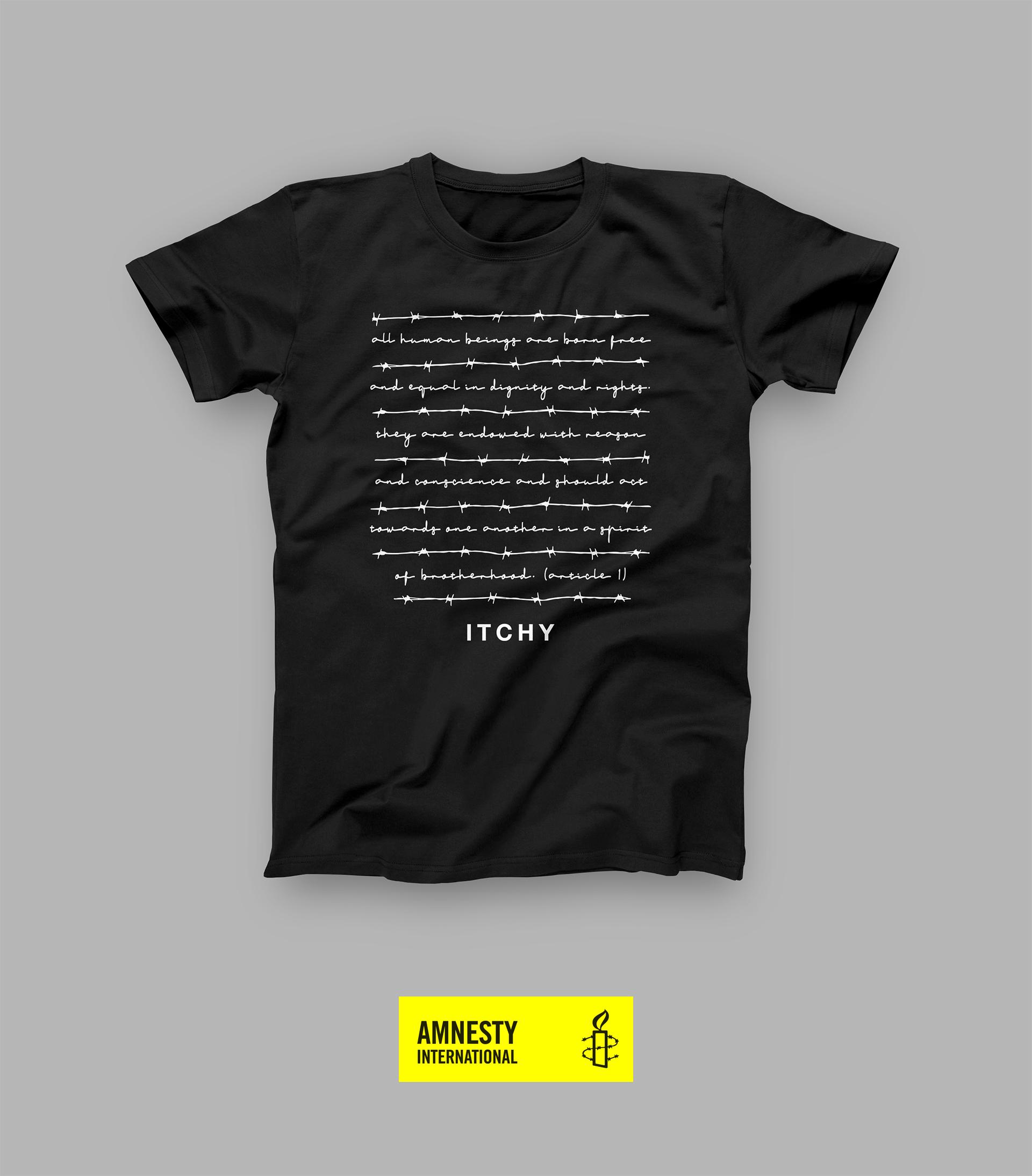 Charity T-Shirt zugunsten von Amnesty International